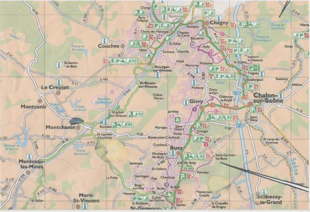 Carte parcours sortie Chamforgeuil